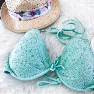 Victoria's Secret Swim - Victoria Secret Mint Lace Bombshell Bikini Top
